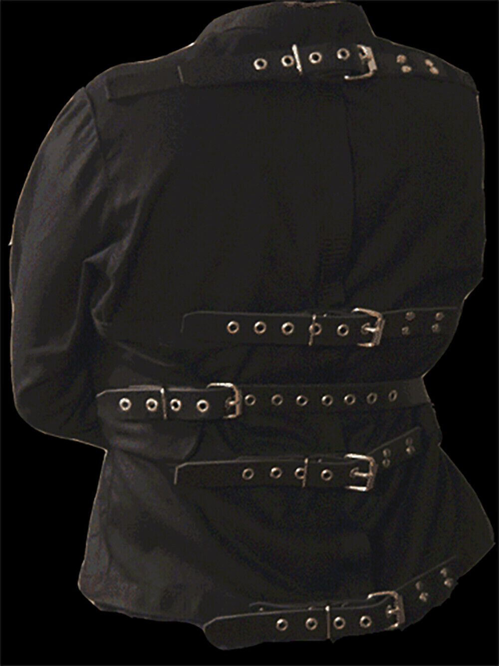 Dble thick Straight Jacket w  leather  L Monkey Dungeon