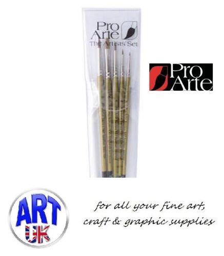 Pro Arte Miniature Model Artists Spotter Brush Set W4 Watercolour Acrylic Ink