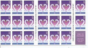 US-SC-3123a-BC137-Love-Complete-Booklet-MNH