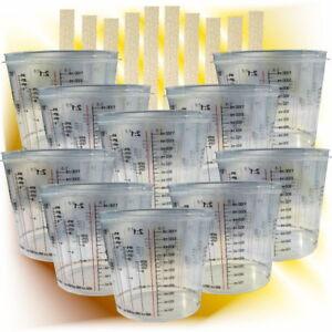 10 x Lackmischbecher  Mischbecher  2300 ml + 10 Rührhölzer Set