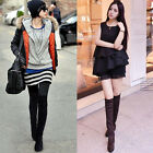 2016 Winter Womens Over Knee Thigh High Boots Casual Low Heels Shoes 2016