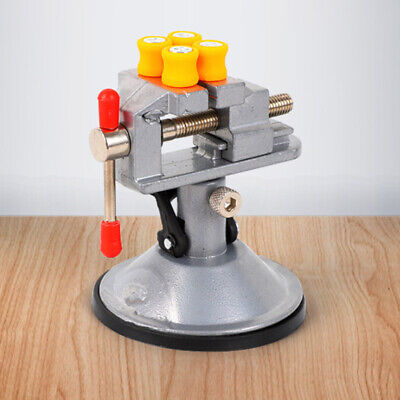 Home Bench Vise  Aluminum Miniature Small Clamp On Table Kit Accessories