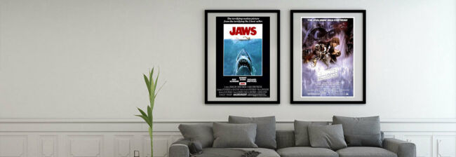 how to showcase vintage movie posters