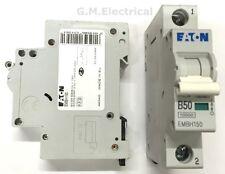 EATON 50 AMP TYPE B 50A MCB BREAKER MEMSHIELD 3 EMBH150 MOELLER XPOLE B50 10KA