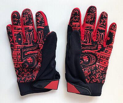 Mountain Bike BMX Pow Gloves Rake Glove Men/'s Size Large White Plaid