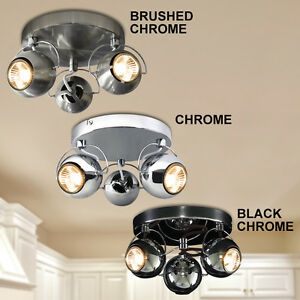 Retro led eyeball 3 way adjustable ceiling spotlight light fixture image is loading retro led eyeball 3 way adjustable ceiling spotlight mozeypictures Choice Image
