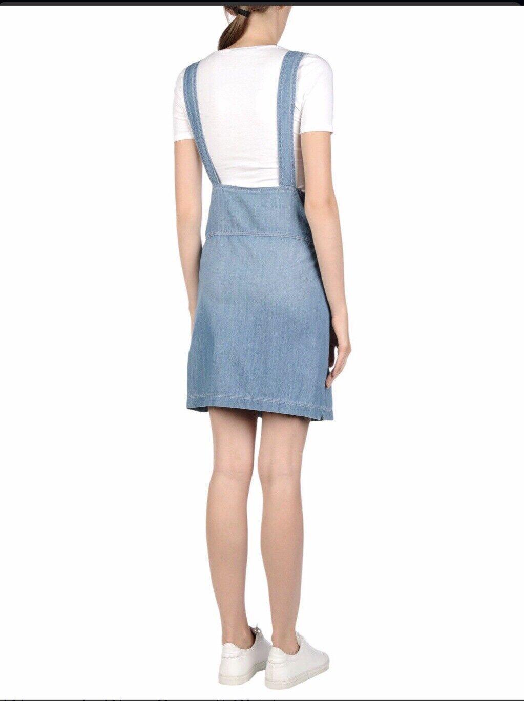 Frame Le apron Reese Soft Denim Overall Skirt Dre… - image 9