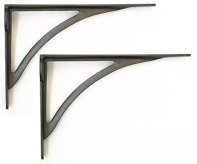 Pair Arch Cast Iron Shelf Brackets
