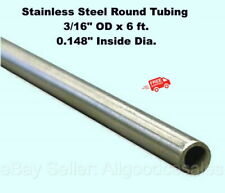 Round Tubing 304 Stainless Steel 316 Od X 6 Ft Welded 0148 Inside Dia