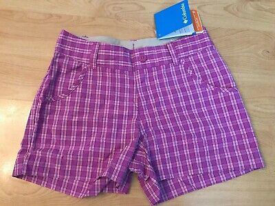 Designer Columbia Pantaloncini Età 7-8 Anni Mix Rosa Protezione Solare Omni-wick Comfort-mostra Il Titolo Originale