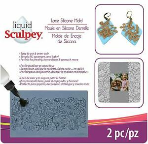 Liquid-Sculpey-Clay-Silicone-Flexible-Mold-Oven-Bake-LACE-Jewelry-Crafts
