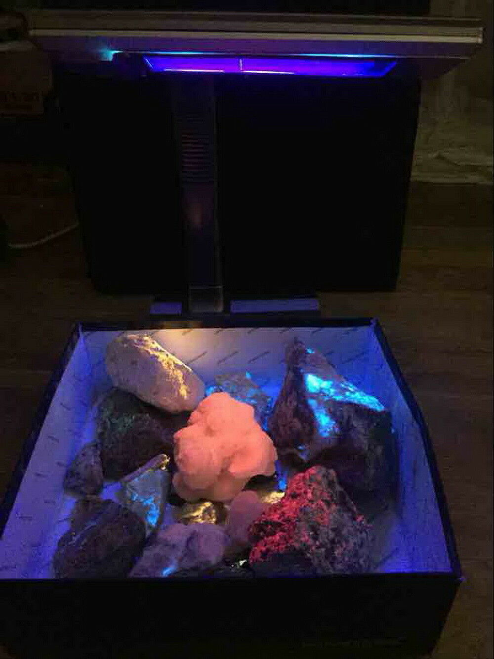 Geological Fluorescent Minerals Glow Table Sw Shortwave