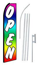 Complete 15 Open Rain Kit Swooper Feather Flutter Banner Sign Flag
