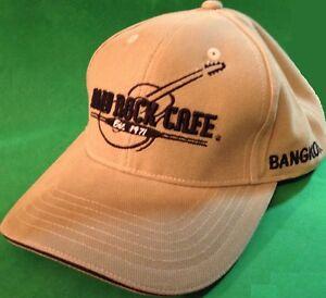 Hard-Rock-Cafe-BANGKOK-Baseball-HAT-CAP-Khaki-Guitar-034-Est-1971-034-New-Condition