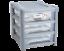 Plastica-CASSETTO-poco-profonde-Tower-STAND-Office-Home-da-cucina-contenitore-di-stoccaggio-Holder miniatura 9