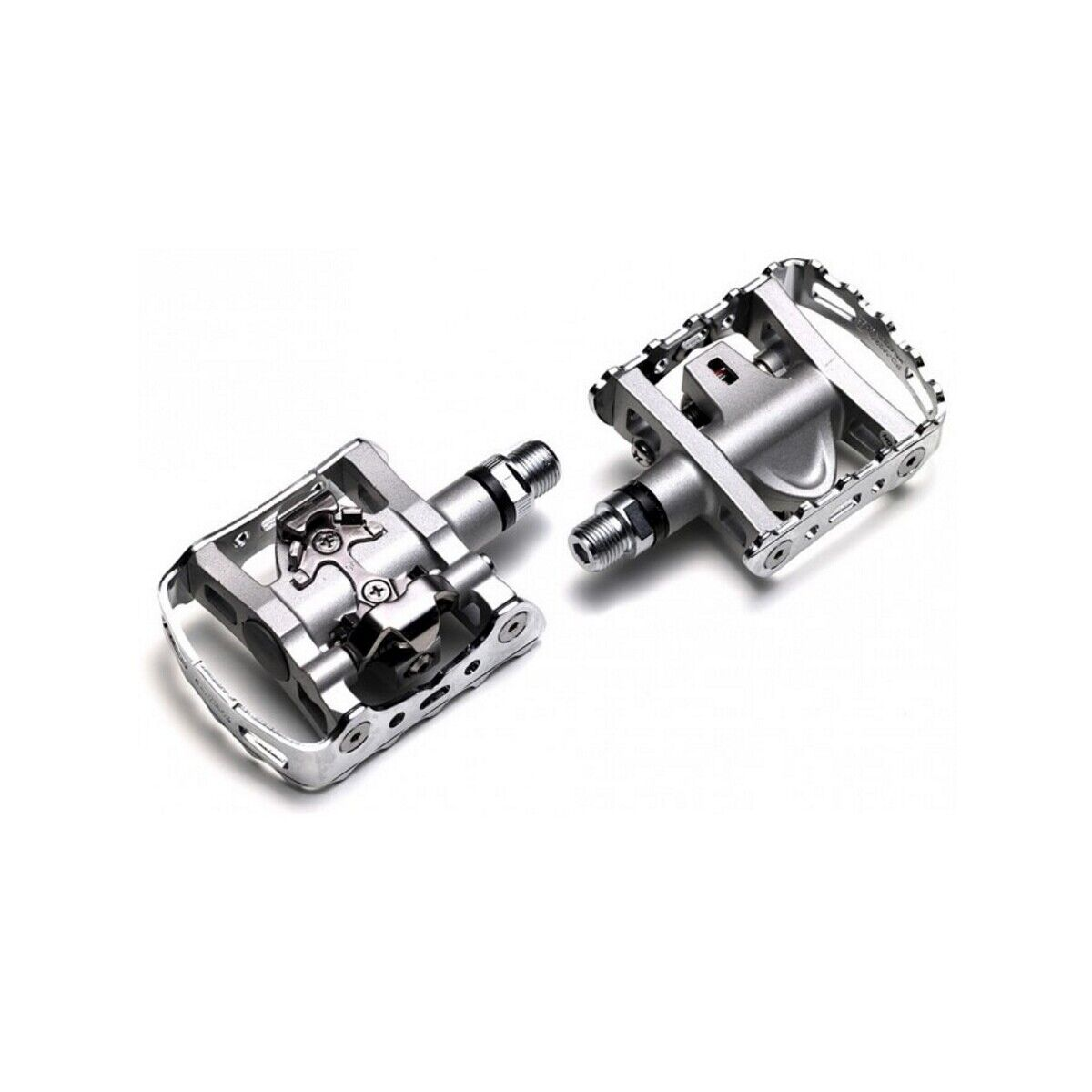 Shimano Pedali pdm324 DuoPedale argentoo