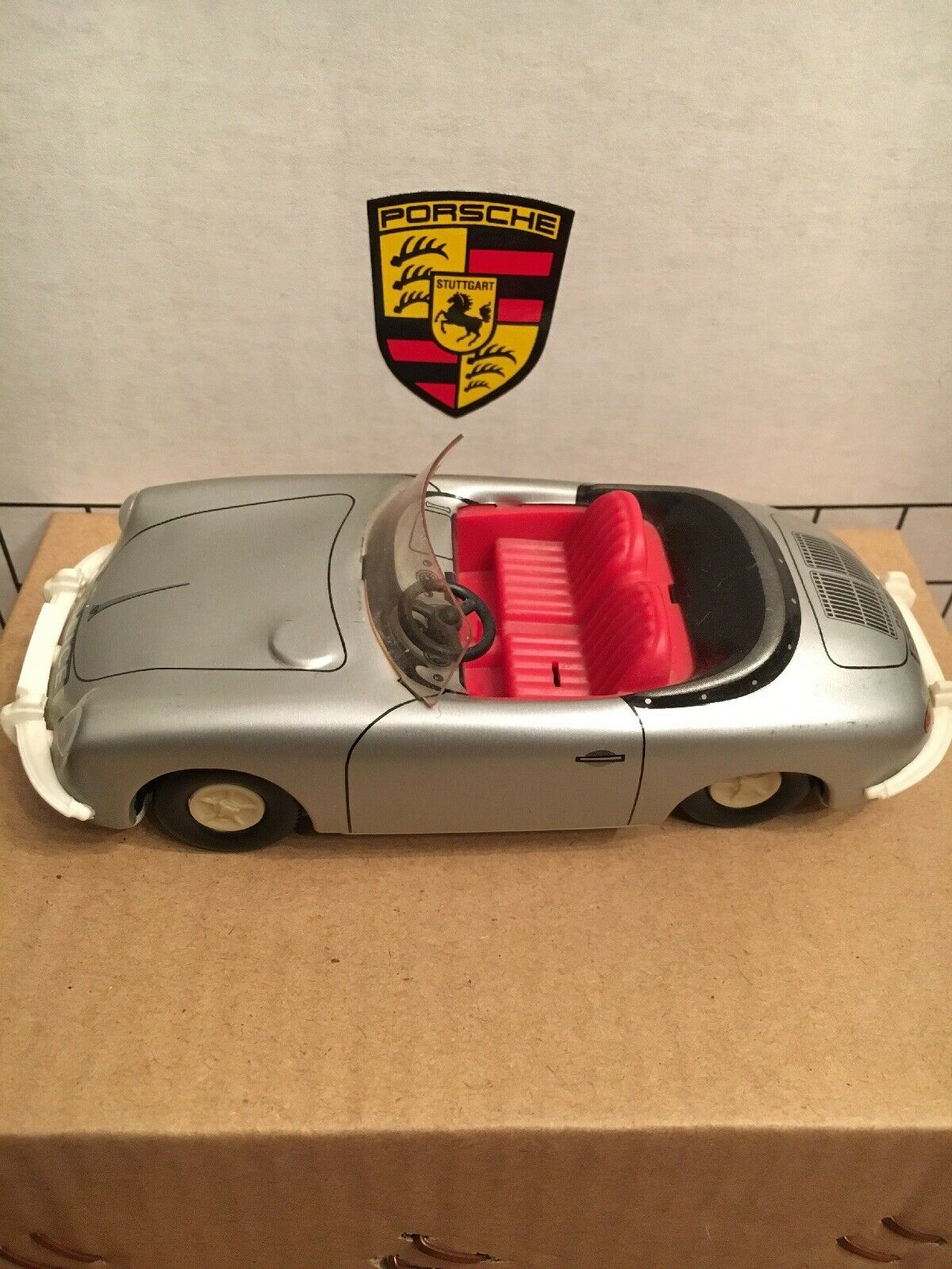 Rare Porsche 356 Tin Model Model Model By Tippco Friction toy Police Car 81be74