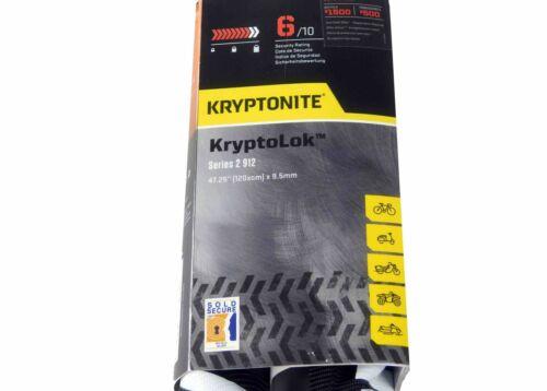 Kryptonite KryptoLok Series 2 912 Integrated Bike Chain 4/' x 9.5mm 120cm