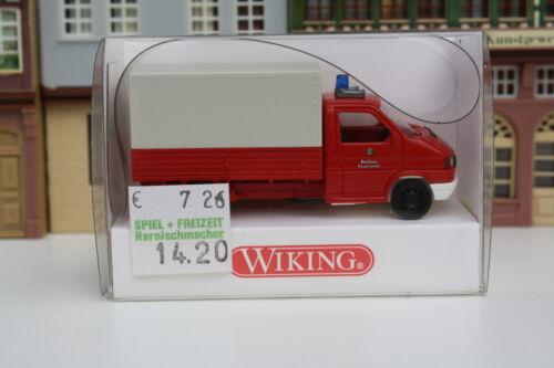 """Wiking//Rs,X,BB,HH//R 115-17,482 VW Transporter Pritsche//Plane /""""Feuerwehr/"""" in OVP"""