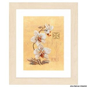 Lanarte-Counted-Cross-Stitch-Kit-Three-Orchids-Multicoloured