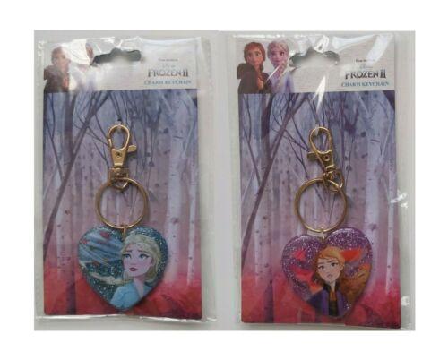 Disney Frozen 2 Charm Keyring Heart KeyChain Girls Anna Elsa Gift Party Bag Keys