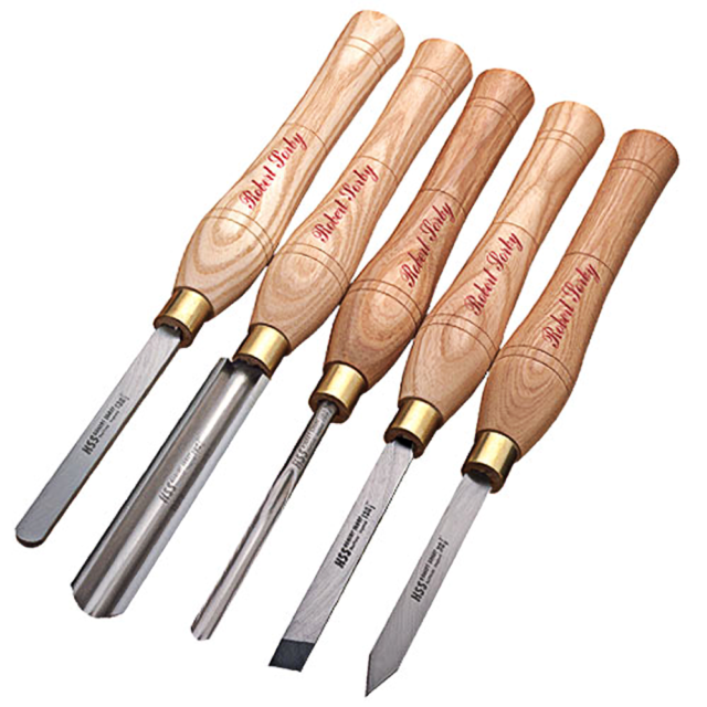 Robert Sorby #E5705ST 5-Piece Sheaf River Tapered Butt Chisel Set