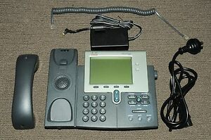 Cisco CP-7941G Unified 7900 7941 Series IP Phone w/ Power Supply 180DaysWty
