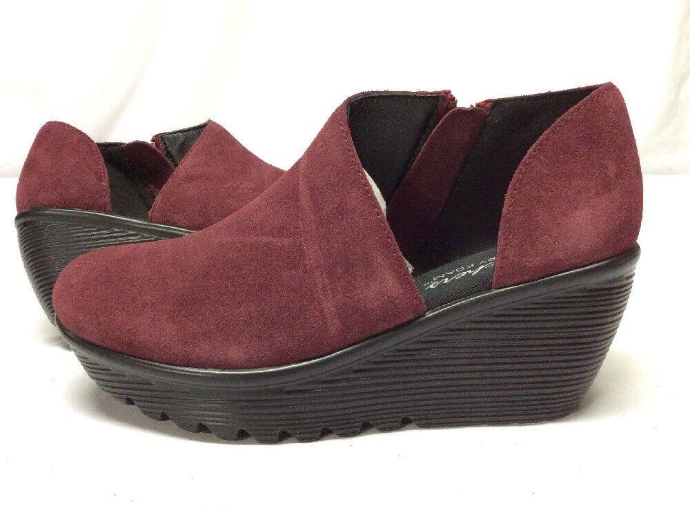 SKECHERS Memory Foam donna's scarpe, rosso Suede Dimensione 6