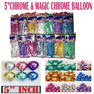 10 pcs Twisting Metallic Latex Balloon Chrome Long Magic Modelling Balloons