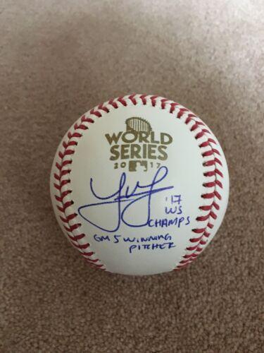 Joe Musgrove Autographed World Series 2017 Baseball Inscription Houston Astros