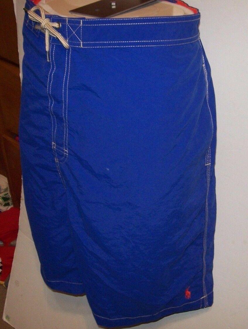 New Polo Ralph Lauren royal bluee Kailua board shorts swimsuit trunks 2XB 3XB 4XB