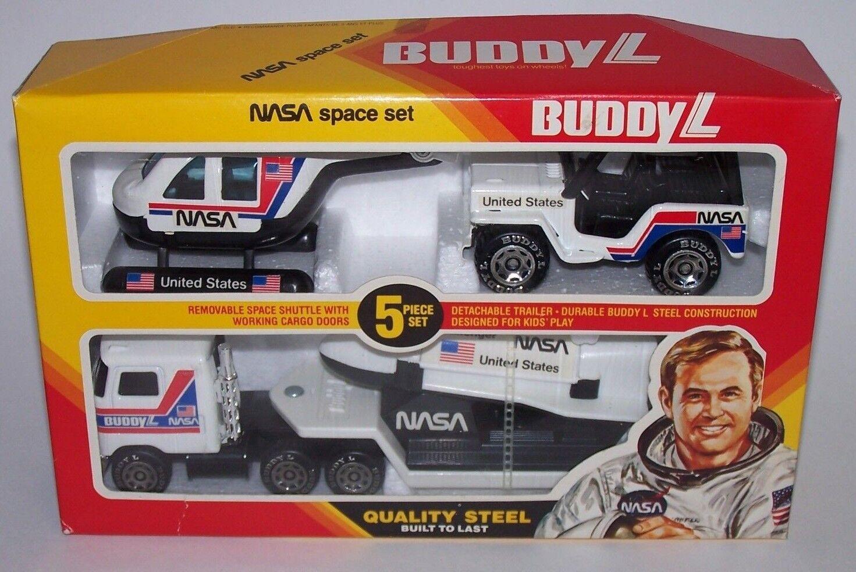 Buddy L transbordador espacial de la NASA descubrimiento Semi Jeep helicóptero Juguete Juegp De Acero