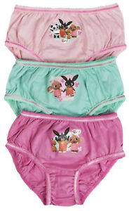 7043a54bd4 Bing Bunny Briefs 3 Pack Girls Knickers Multipack 3 Pairs Underwear ...