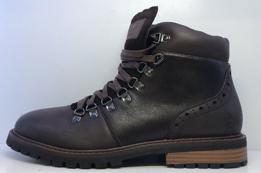 Penguin  Uomo Braun Lace Up Ankle Stiefel Uk 8