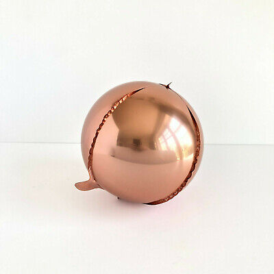 3pc Rose Gold Round Balloons Orb Balloons Sphere Balloons