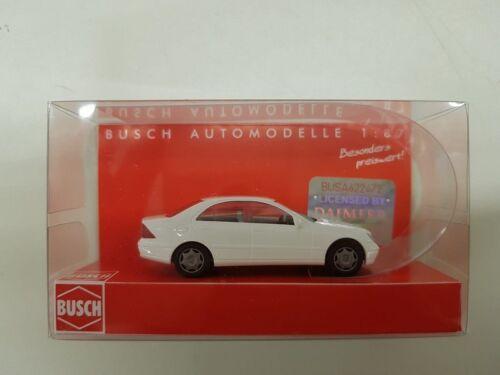 BUSCH 89134 Spur H0  1 Mercedes-Benz C-Klasse weiß #NEU in OVP#