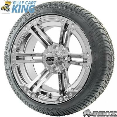 14 Rhox Ss Rx352 Chrome Wheel And Low Profile Golf Cart Tire Combo Options Ebay