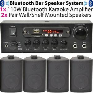 BAR-RESTAURANTE-Bluetooth-Pared-Sistema-de-Altavoces-inalambrico-fondo-Musica