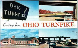 OHIO, OH MULTIVIEW of OHIO TURNPIKE c1950s Cars Roadside Postcard | eBay