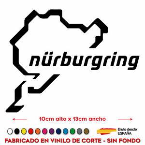 PEGATINA-NURBURGRING-CIRCUITO-NURBURGRING-STICKER-VINILO-MOTO-GP-ALEMANIA-COCHE