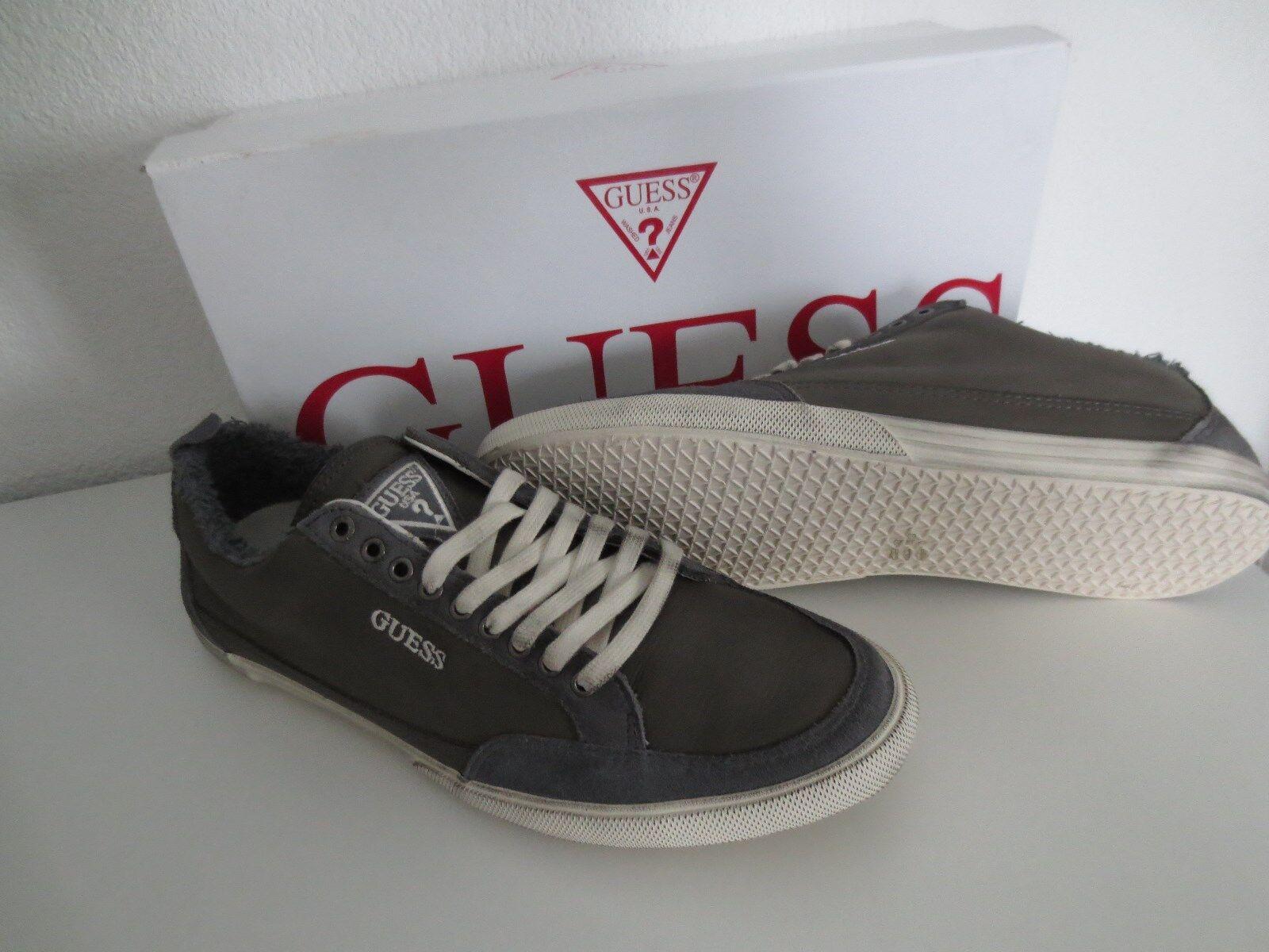 GUESS Herren Schuhe Gr. 43 Sneaker Dark neu Grau Leder Sneakers Turnschuhe neu Dark 271bc2
