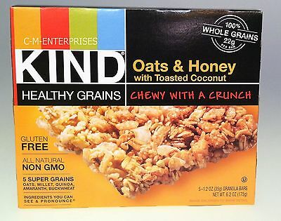 KIND Healthy Grains Oats & Honey with Toasted Coconut Granola Bars 6.2 oz