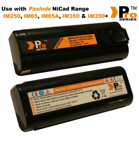 IM65A IM250  01 1xPro Series Battery /& Charger Set for Paslode IM350// Im350+