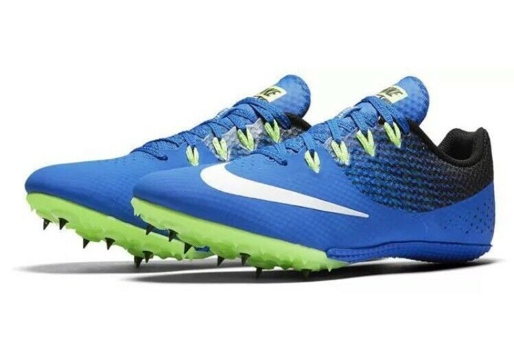 Nike Zoom Rival S 8 Men's Track Field Spikes Shoes 806554 413 Blue Comfortable