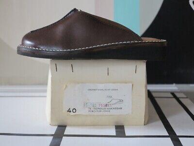 Glorioso Otter Uomo Sandali Pelle Culto 70er Plateau Scarpe True Vintage 70s Nos 40-mostra Il Titolo Originale Acquisto Speciale