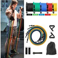 11 шт. экспандер ленточный набор для йоги пилатеса АБС упражнений и фитнеса с трубкой для тренировочных полос