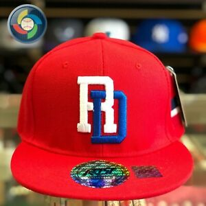 Dominican Republic Republica Dominicana Baseball Cap Red
