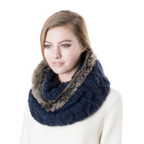 Women/'s Faux Fur Fashion Infinity Warm Scarf
