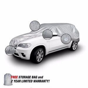 La Foto Se Está Cargando Uv Reflectante Lana Forrada Suv Car Cover Para