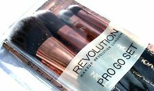 Makeup Revolution Pro Go Make Up Brush Set Foundation Brush Ombretto Pennello ect